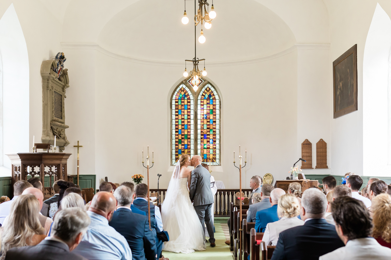 Wedding photography at Old ravenfield church